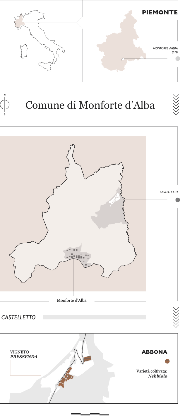 Vigneto Pressenda (Castelletto) a Monforte d'Alba